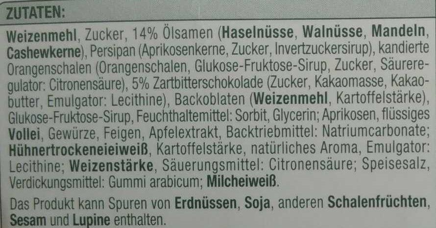 Oblaten-Lebkuchen 3-fach sortiert - Ingredients