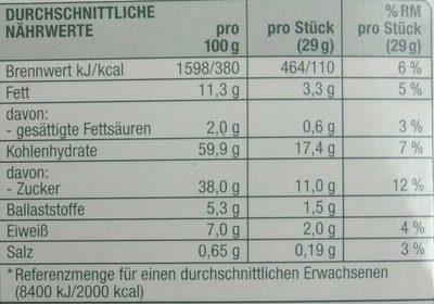 Oblaten-Lebkuchen 3-fach sortiert - Nutrition facts