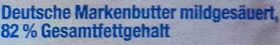Deutsche Markenbutter - Ingrédients