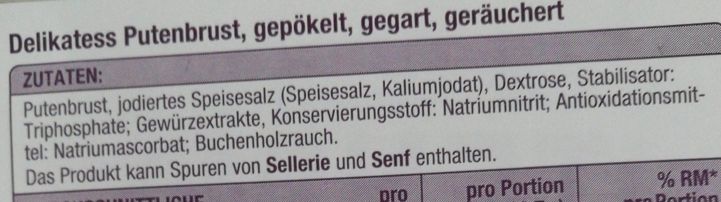 Delikatess Putenbrust - Ingredients - de
