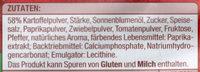 Ofenchips Paprika - Inhaltsstoffe
