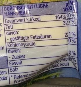 Gouda Holland mittelalt - Voedingswaarden - de