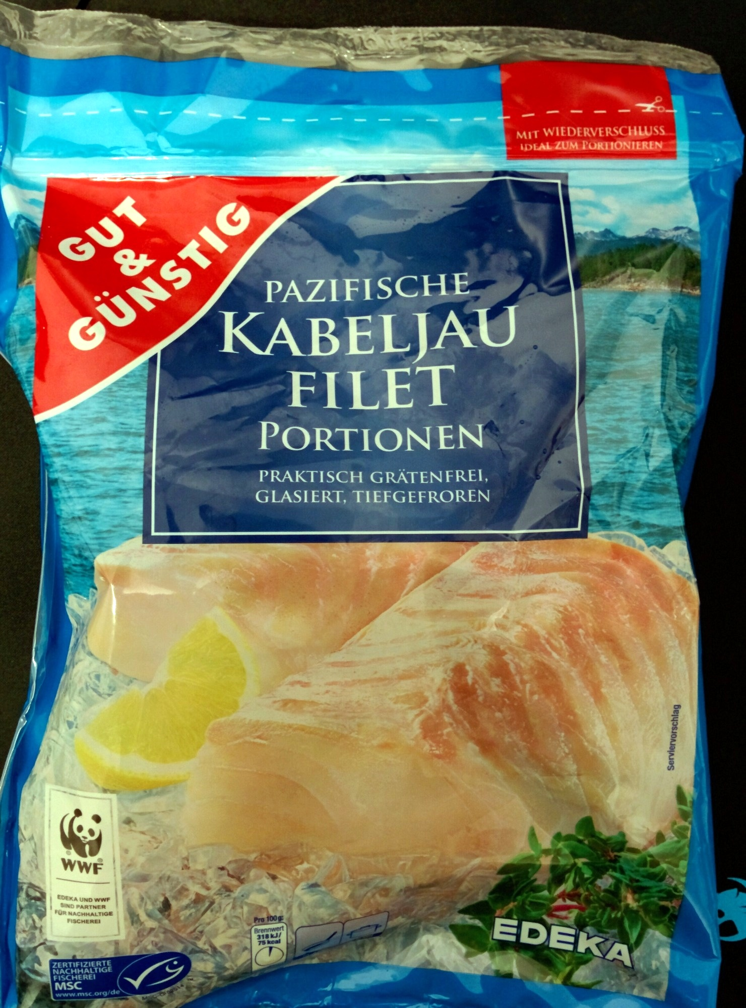 Pazifische Kabeljau Filet Portionen - Product
