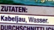 Pazifische Kabeljau Filet Portionen - Ingrédients - de