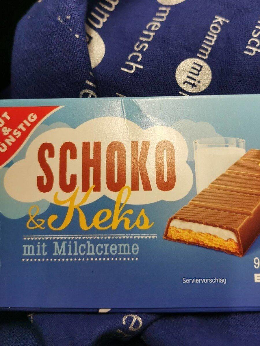 Schoko Keks mit Milchcreme - Prodotto - de