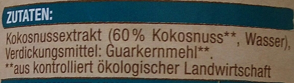 Kokosnussmilch - Ingredients - de