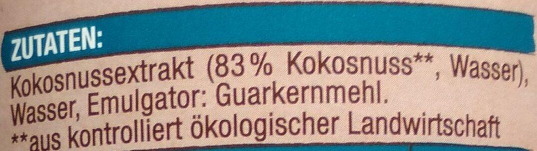 Kokosnussmilch - Zutaten - de