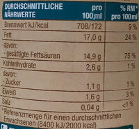 Kokosnussmilch - Nutrition facts - de