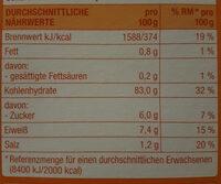 Corn Flakes - Informations nutritionnelles