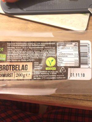 Veganer Brotbelag - Produkt - en