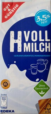H Vollmilch 3,5 % Fett - Produkt - de