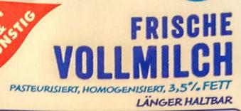 Frische Vollmilch - Ingrediënten - de