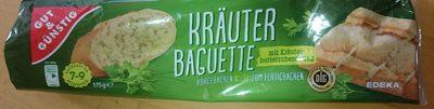 Kräuter Baguette mit Kräuterbutterzubereitung gefüllt - Product