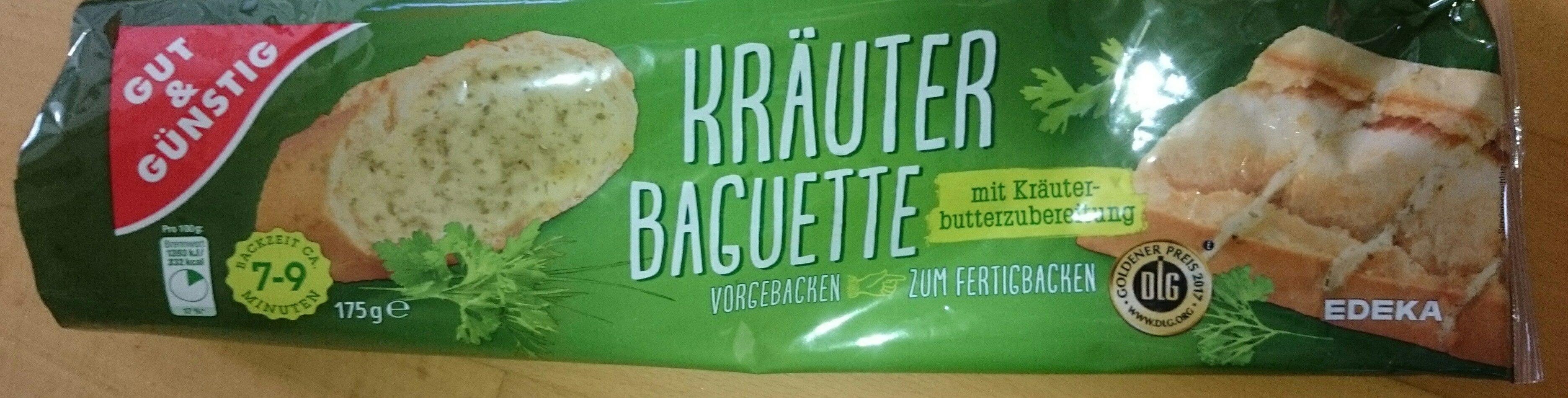 Kräuter Baguette mit Kräuterbutterzubereitung gefüllt - Product - de