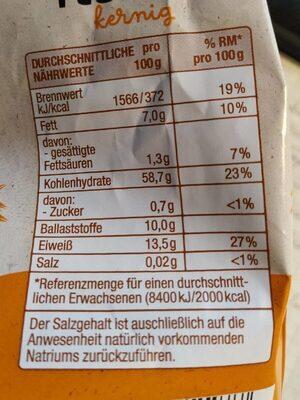 Hafer Flocken Kernig - Valori nutrizionali