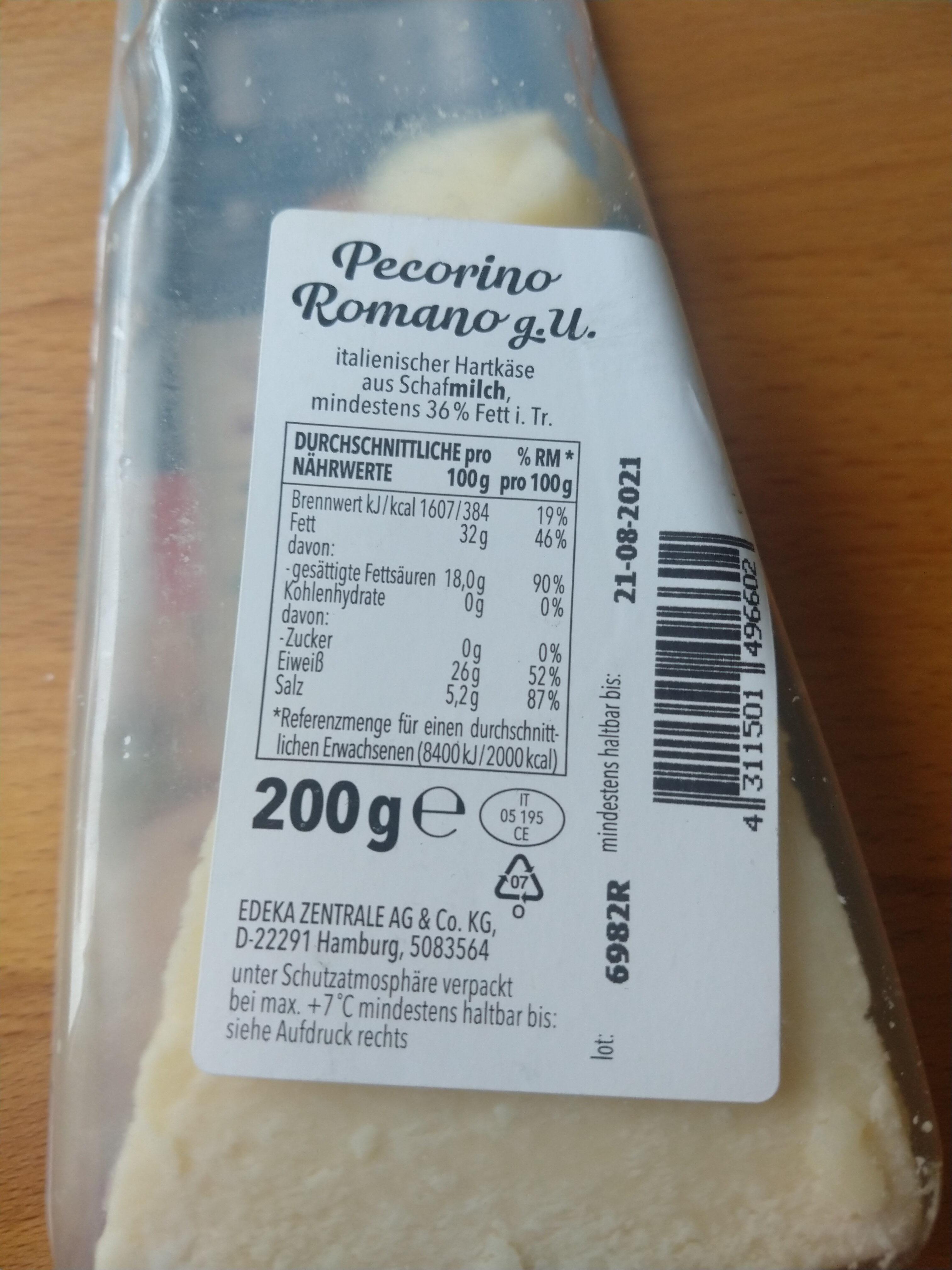 Pecorino Romano - Ingredienti - de