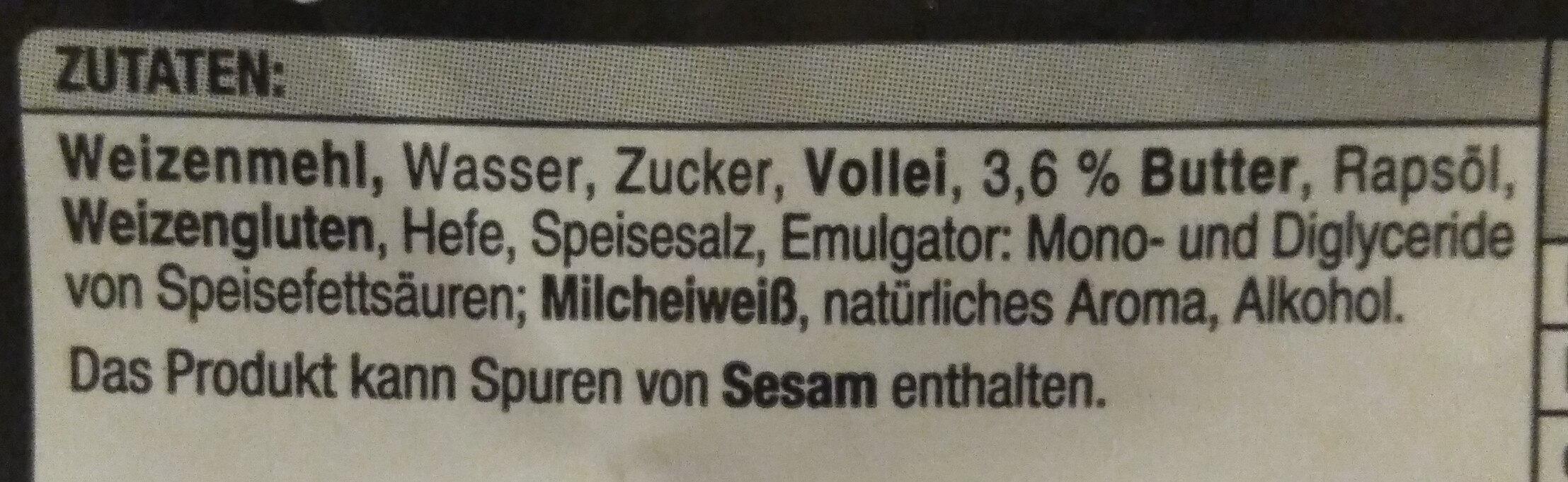 Burger Buns - Ingredients - de