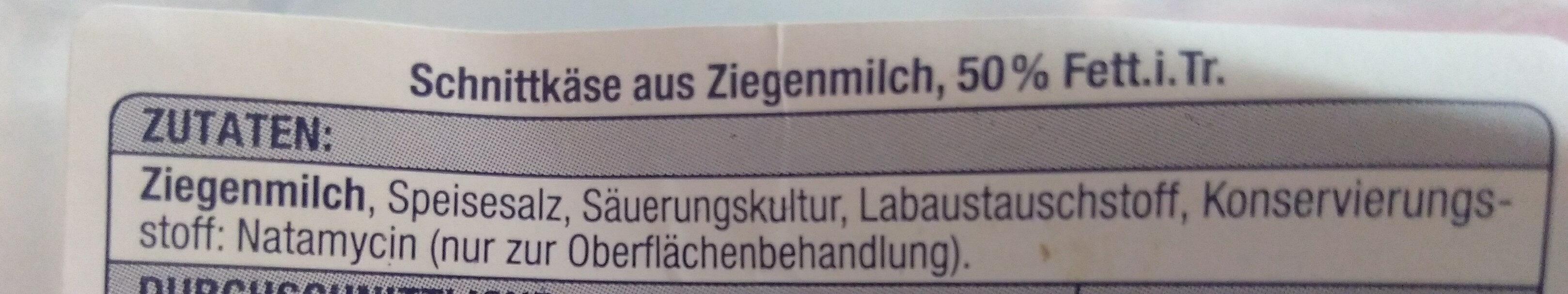 Ziegenkäse - Zutaten - de