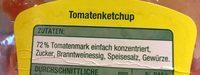 Tomaten Ketchup - Ingrédients