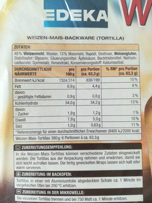 Wraps - Voedingswaarden - de
