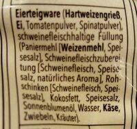 Tortellini tricolore - Ingredients