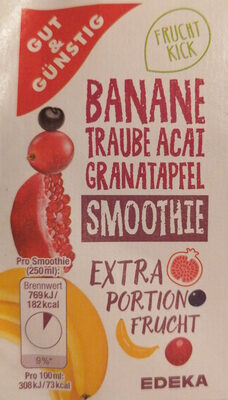 Banane Traube Acai Granatapfel Smoothie - Product