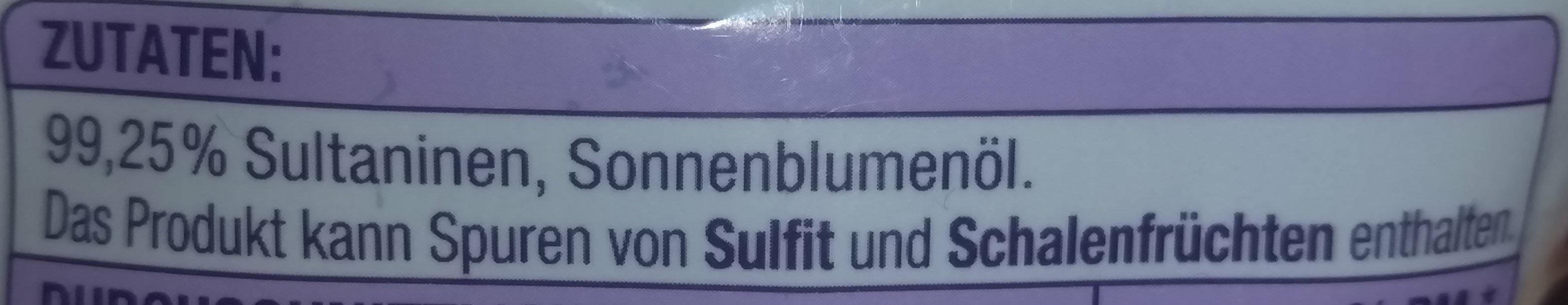 Sultaninen - Ingrédients - de