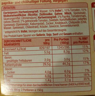 Tortelli Paprika und Chili - Ingredients