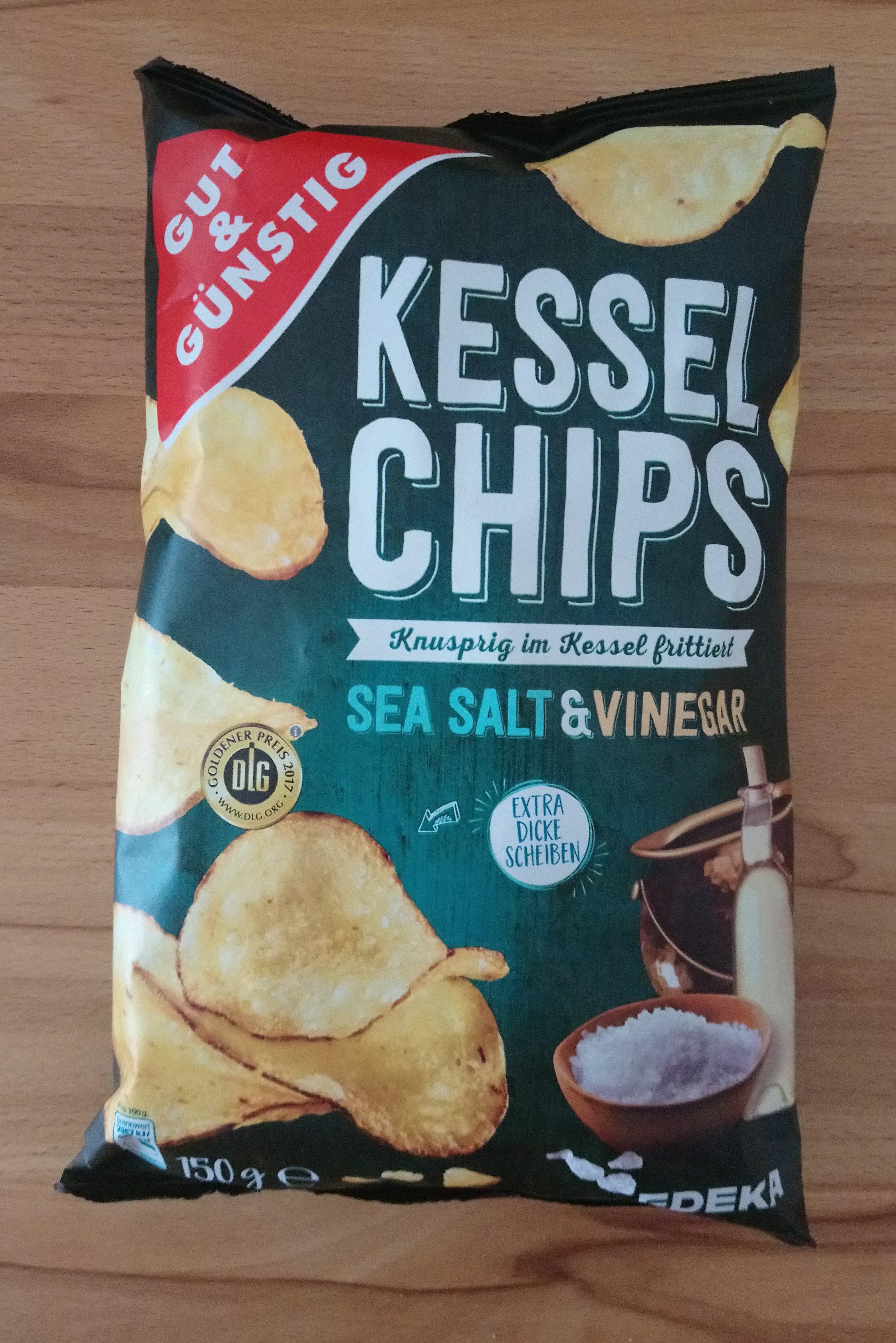 Kesselchips Sea Salt & Vinegar - Produit - de