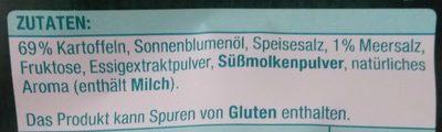 Kesselchips Sea Salt & Vinegar - Ingrédients - de