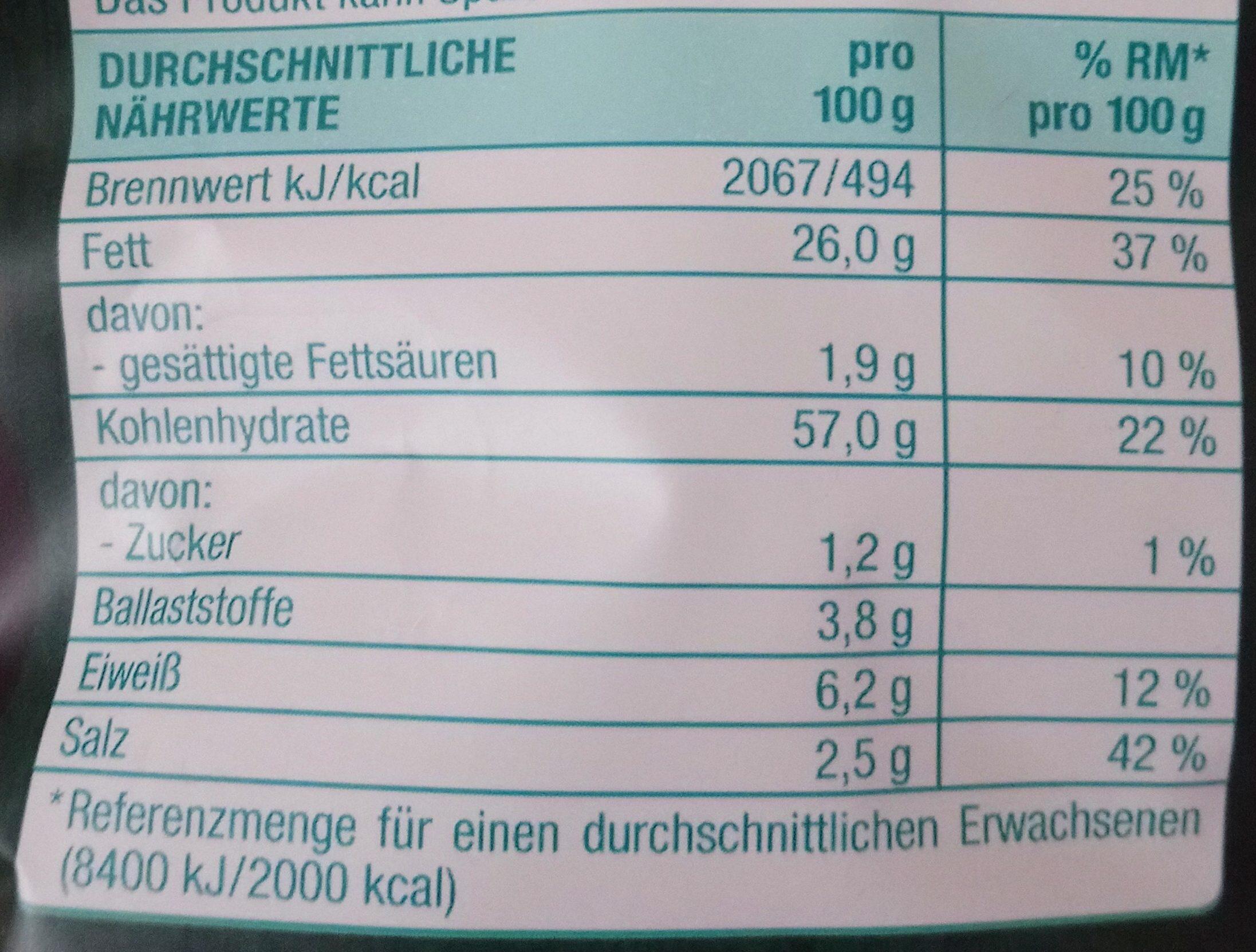 Kesselchips Sea Salt & Vinegar - Informations nutritionnelles - de