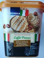 Kaffeeeis und Eis mit Sahnegeschmack mit 3% Schokoladenstückchen mit Kaffee. - Produit
