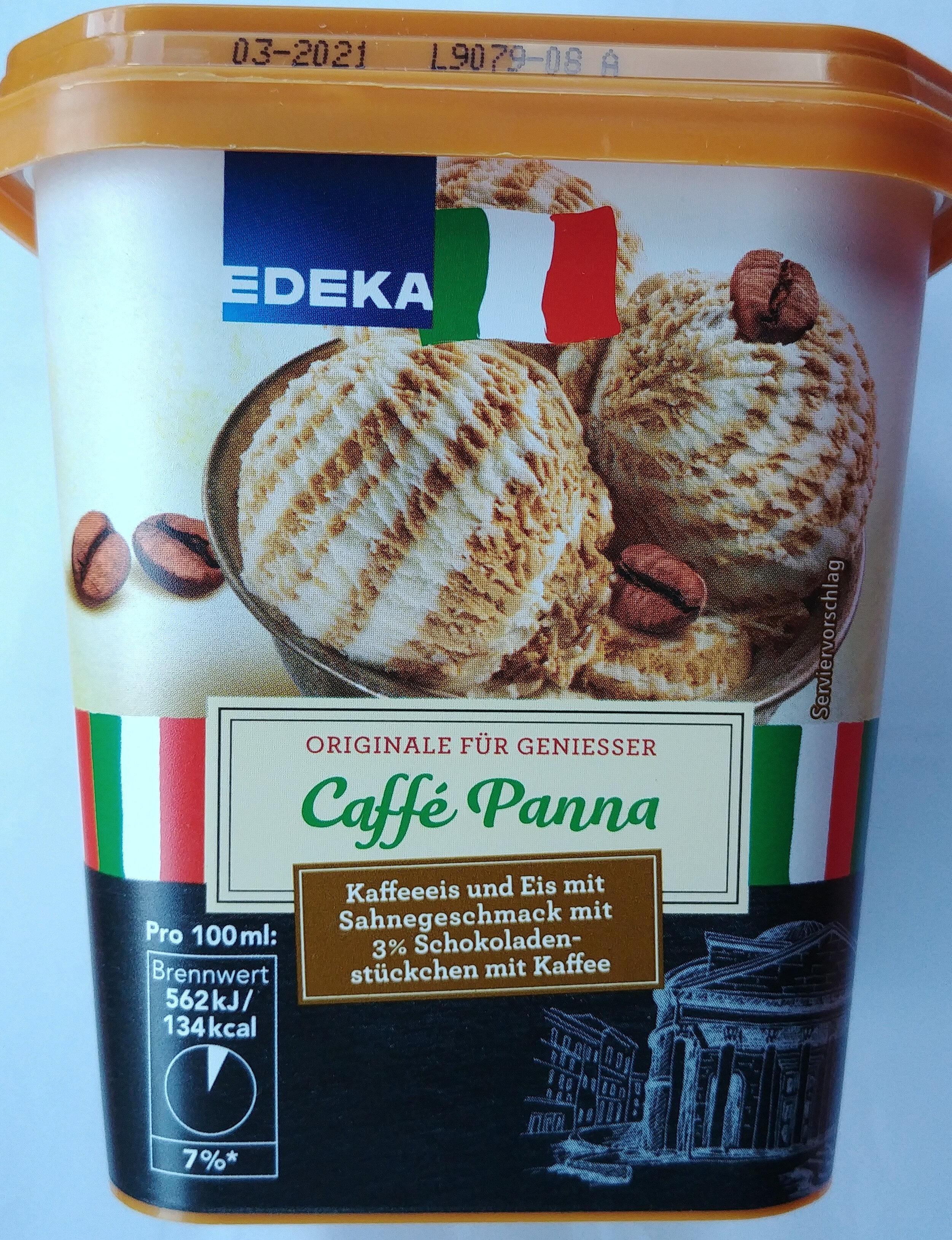 Kaffeeeis und Eis mit Sahnegeschmack mit 3% Schokoladenstückchen mit Kaffee. - Product