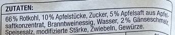 Gourmet Apfel-Rotkohl - Ingrédients - de