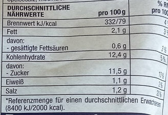 Gourmet Apfel-Rotkohl - Informations nutritionnelles - de