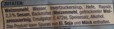 Hamburger Buns mit Sesam - Ingredienti - de
