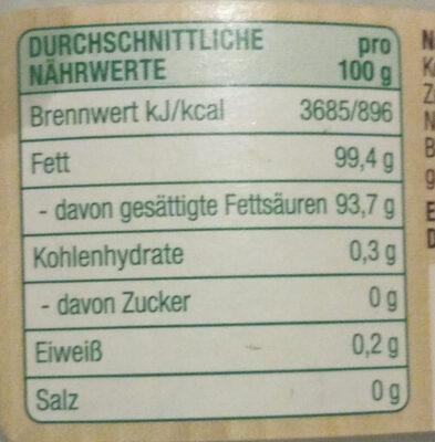 Kokosöl - Nährwertangaben - de