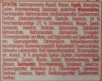 Delikatess Fleischsalat - Ingrédients