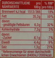 Delikatess Fleischsalat - Informations nutritionnelles