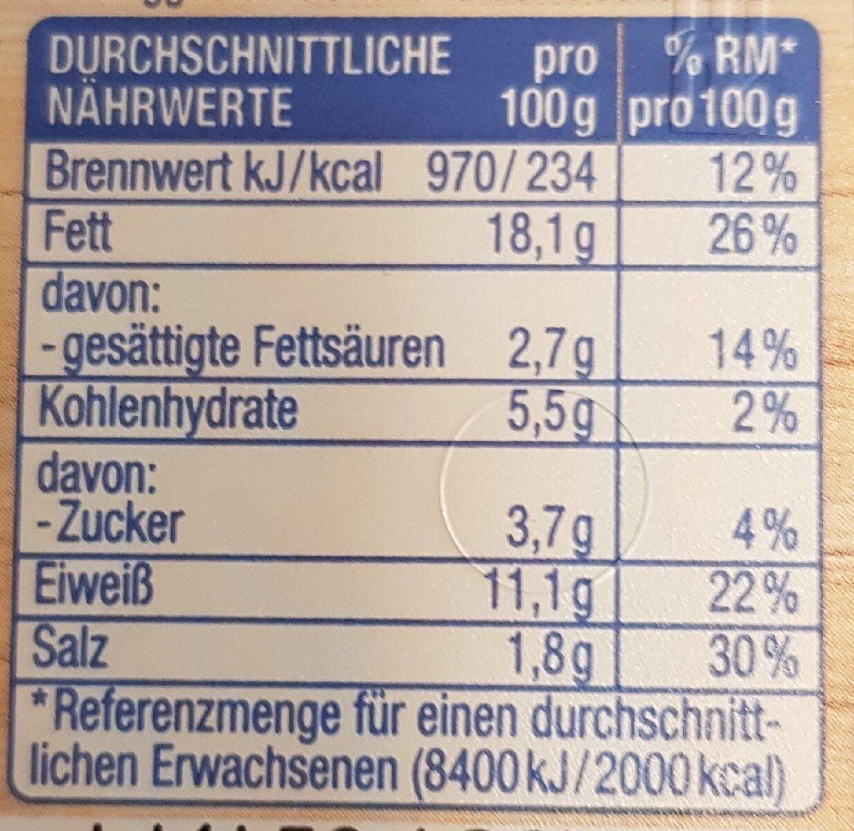 Thunfisch-Salat - Nährwertangaben - de