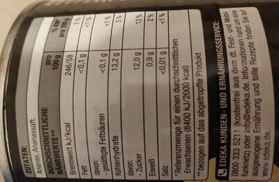 Ananas - Informations nutritionnelles - de