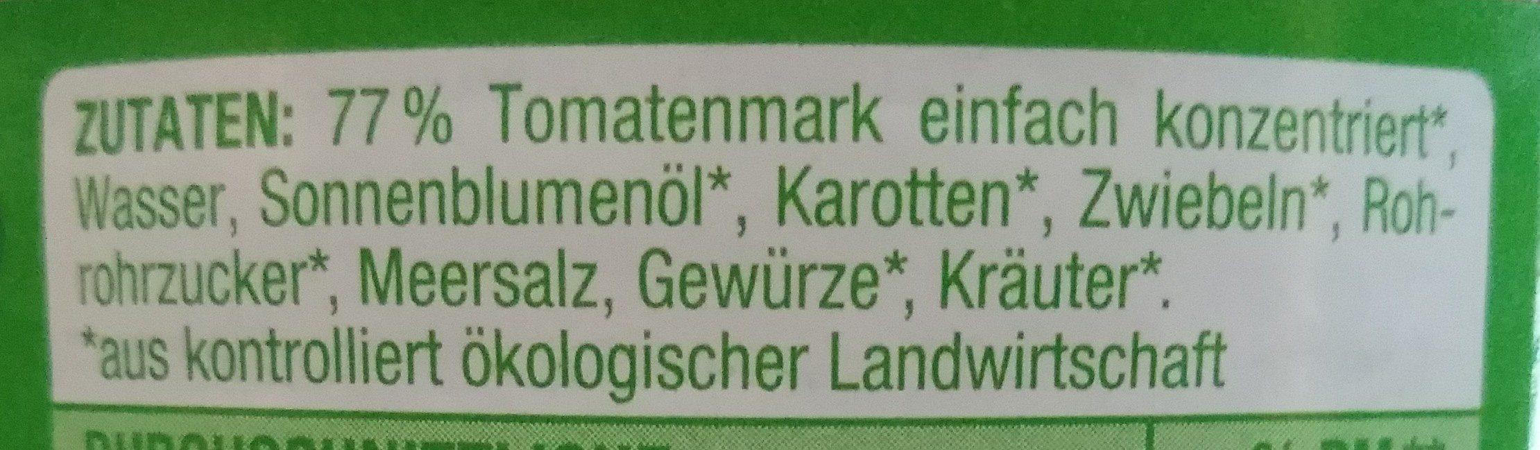 Tomatensauce Klassik - Ingrédients
