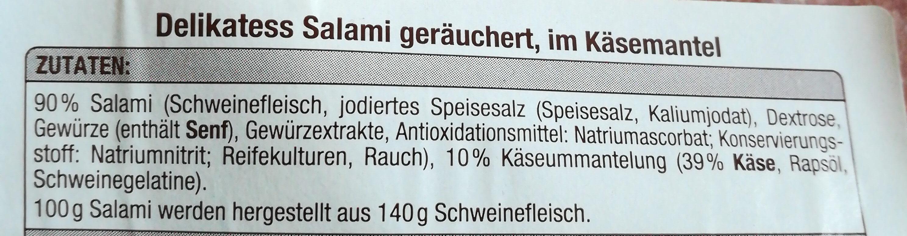 Delikatess Salami geräuchert, im Käsemantel - Ingredients - de