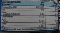 Duo Shoko-Creme - Informations nutritionnelles - fr