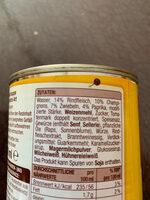 Gulasch Suppe - Ingredients
