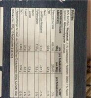 Reibe Kuche - Nutrition facts - en