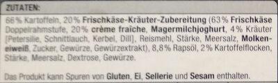 Mini Kartoffel-Taschen - Ingrédients - de