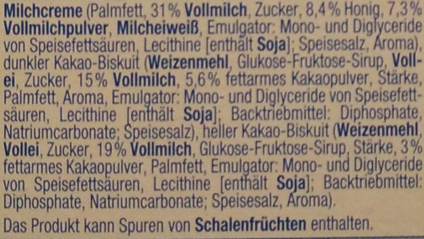 Milch-Snack mit Honig - Ingrediënten - de