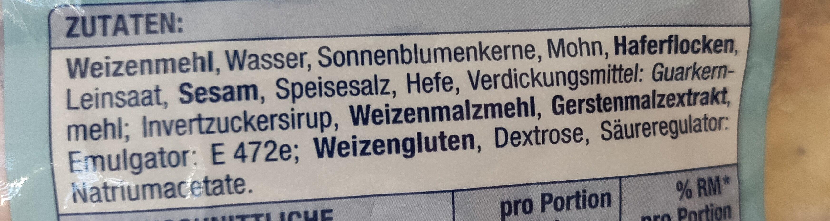 Gemischte Brötchen - Ingredients - de