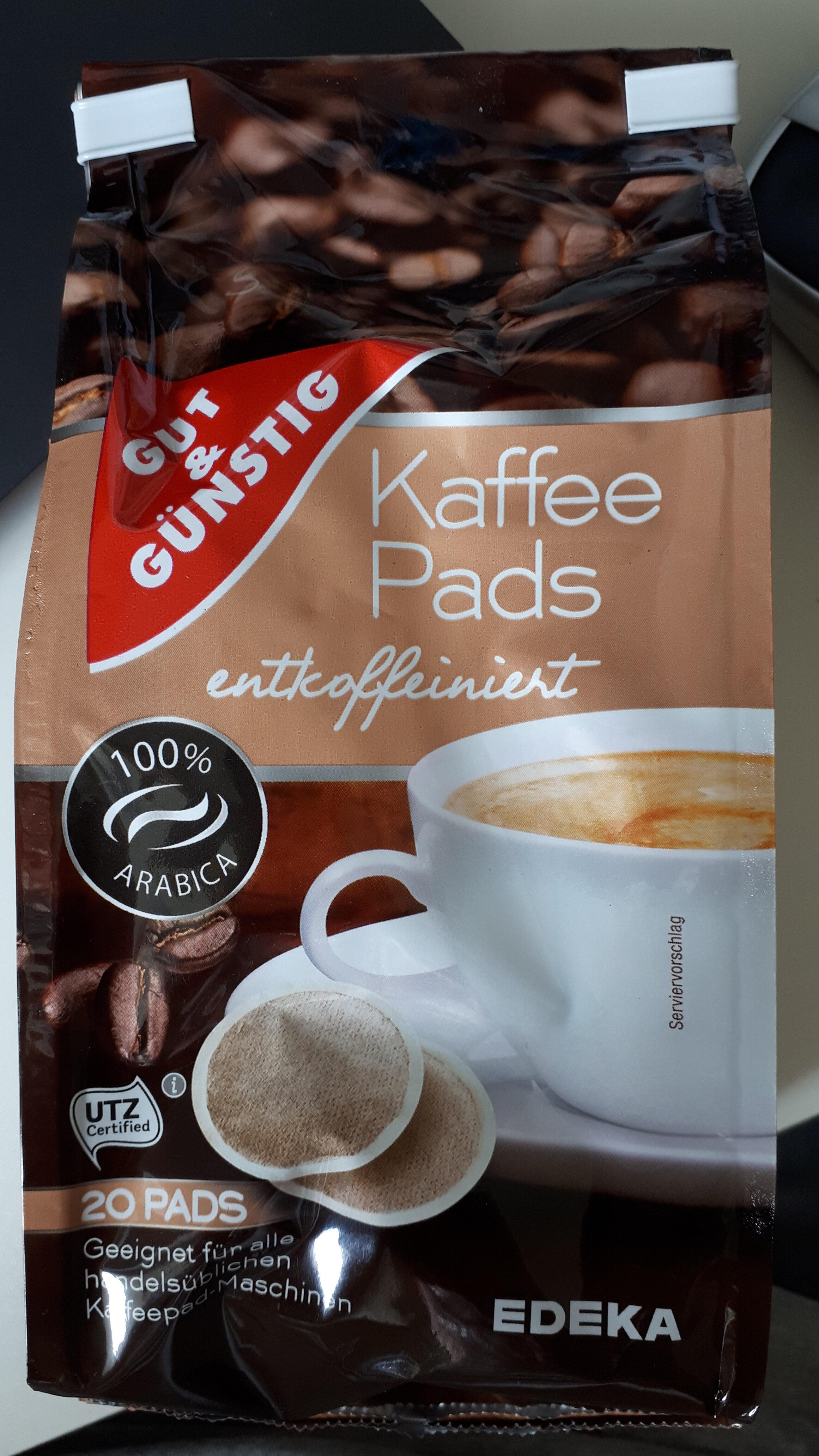 Gut & Günstig Kaffepads entkoffeiniert - Product - de